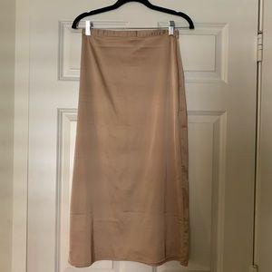 Forever 21 Champagne Silk Skirt